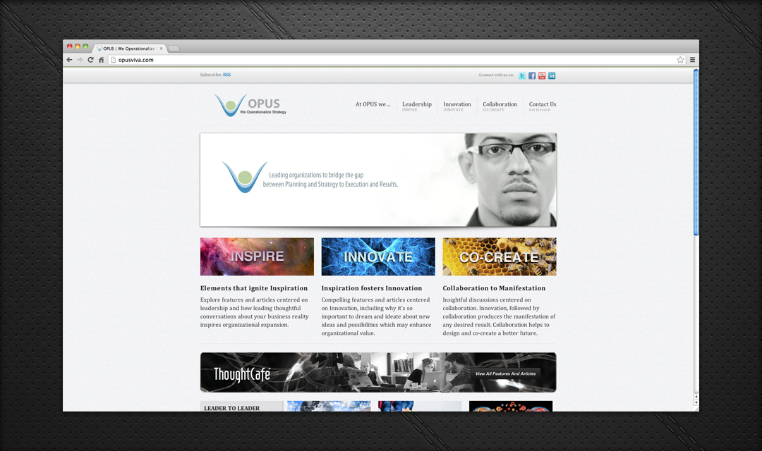 Web Design Projects: Opus Consulting